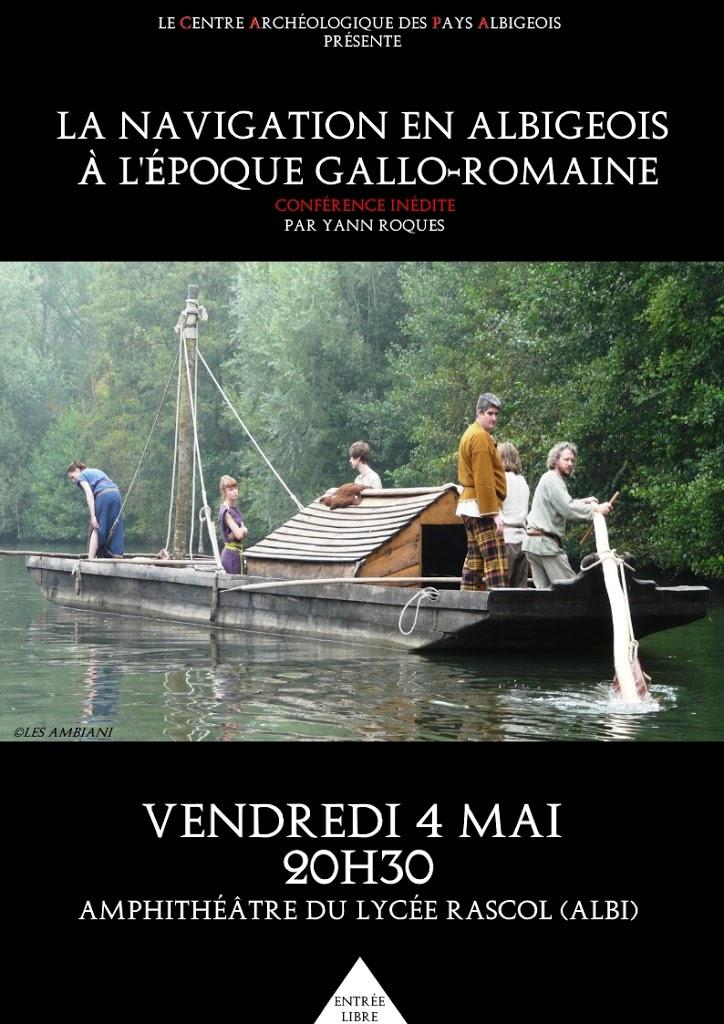 Mieux connaître la navigation fluviale à l'époque romaine