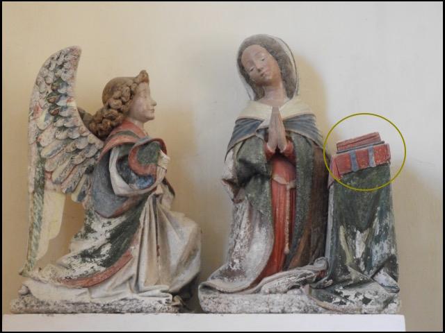 L'Annonciation de l'église d'Inières à Sainte-Radegonde